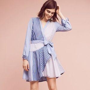 Anthropologie Maeve 'Newport' striped shirt dress